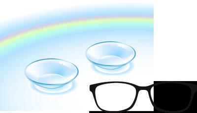 眼鏡、コンタクトレンズ